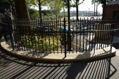 steel bar fence - squibb park brooklyn