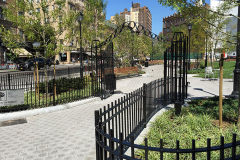 Steel Bar Fence - triangle park 4