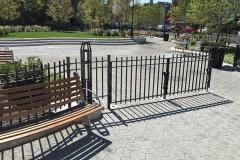 Steel Bar Fence - Triangle Park