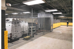 Chain link fence - interior storage facility