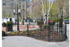Steel Bar Fence - Triangle Park 2