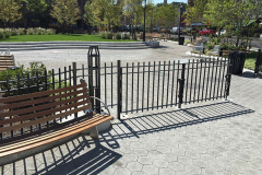 Steel Bar Fence - Triangle Park