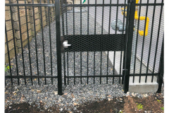 steel bar fence with gate