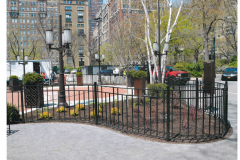 Steel Bar Fence - Triangle Park 2